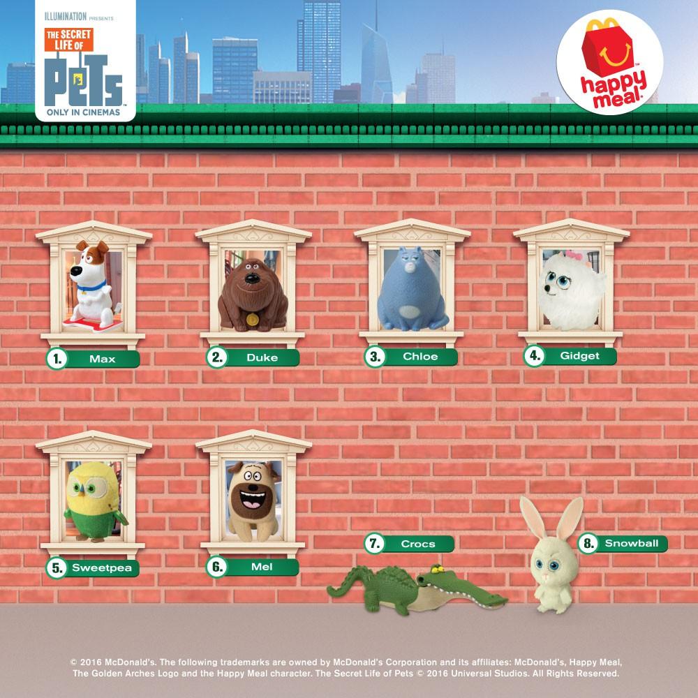 Happy Meal Gidget The Secret Life Of Pets 2016 Shopee Indonesia