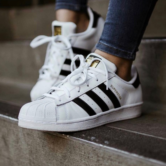 Adidas Superstar Foundation Pack White /// Black Leather | Shopee ...