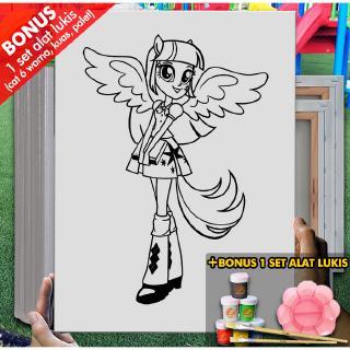 Kanvas Gambar My Little Pony Equestria Girls Online 30x40 Cm Mel1153 Mewarnai Coloring Shopee Indonesia
