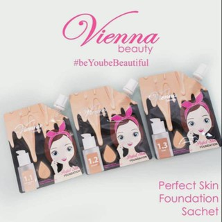 KKV - Vienna Beauty Perfect Skin Foundation 1.1 Moderately Fair 15g sachet 3