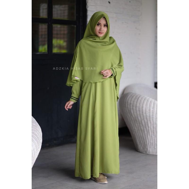 Gamis Hijau Temukan Harga Dan Penawaran Dress Muslim Online