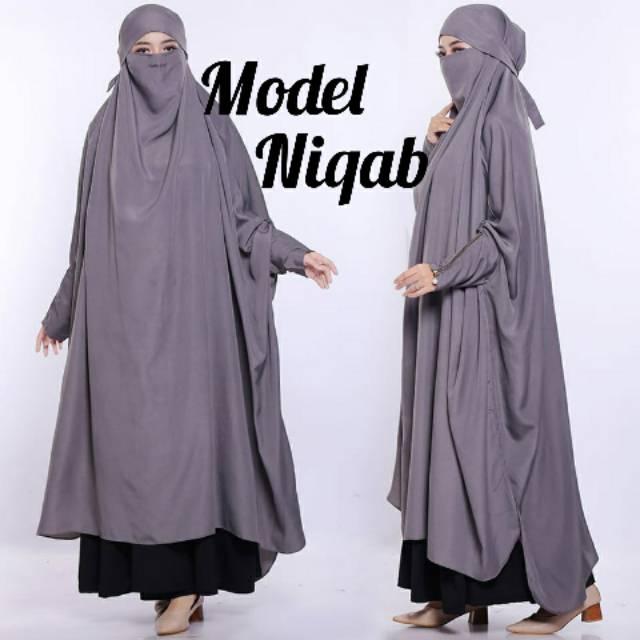 Frens Khimar Model Abaya Niqab Siren Terbaru Buat Wanita Shopee Indonesia