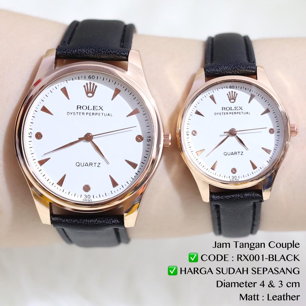 Jam tangan tali kulit hitam HARGA SATUAN UKURAN CEWEKNYA AJA grosir ecer  DC002  16331d74ad
