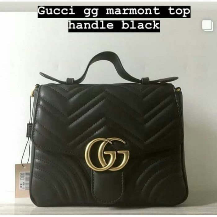 8f05e0443a2 Ready stock Tas Gucci GG Marmont Metelasse Leather Belt Bag Mirror Quality