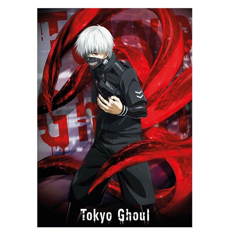 Poster Dinding Desain Tokyo Ghoul Ken Kaneki Anime Ukuran 42 30cm Shopee Indonesia