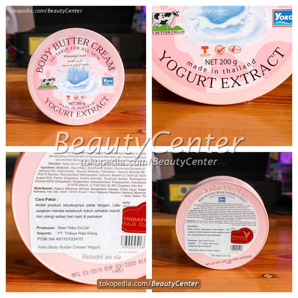 Promo Yoko Body Butter Cream Yogurt Extract Termurah Shopee Indonesia