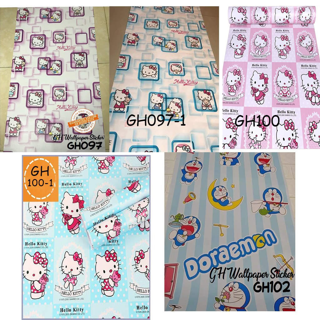 Wallpaper dinding sticker doraemon 45cmx10m shopee indonesia