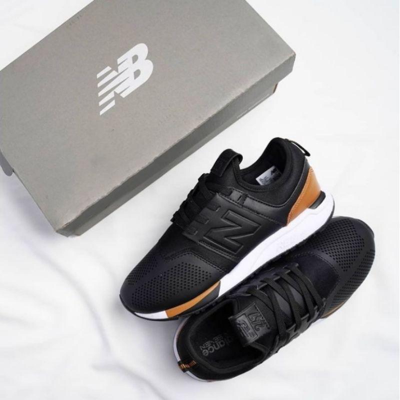 NB New Balance 247 Revlite Leather Black Brown Size 40 - 44