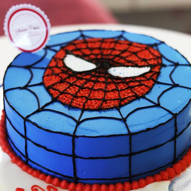 Kue Ulang Tahun Spiderman Diameter 20 Cm Kue Coklat Cream Shopee Indonesia