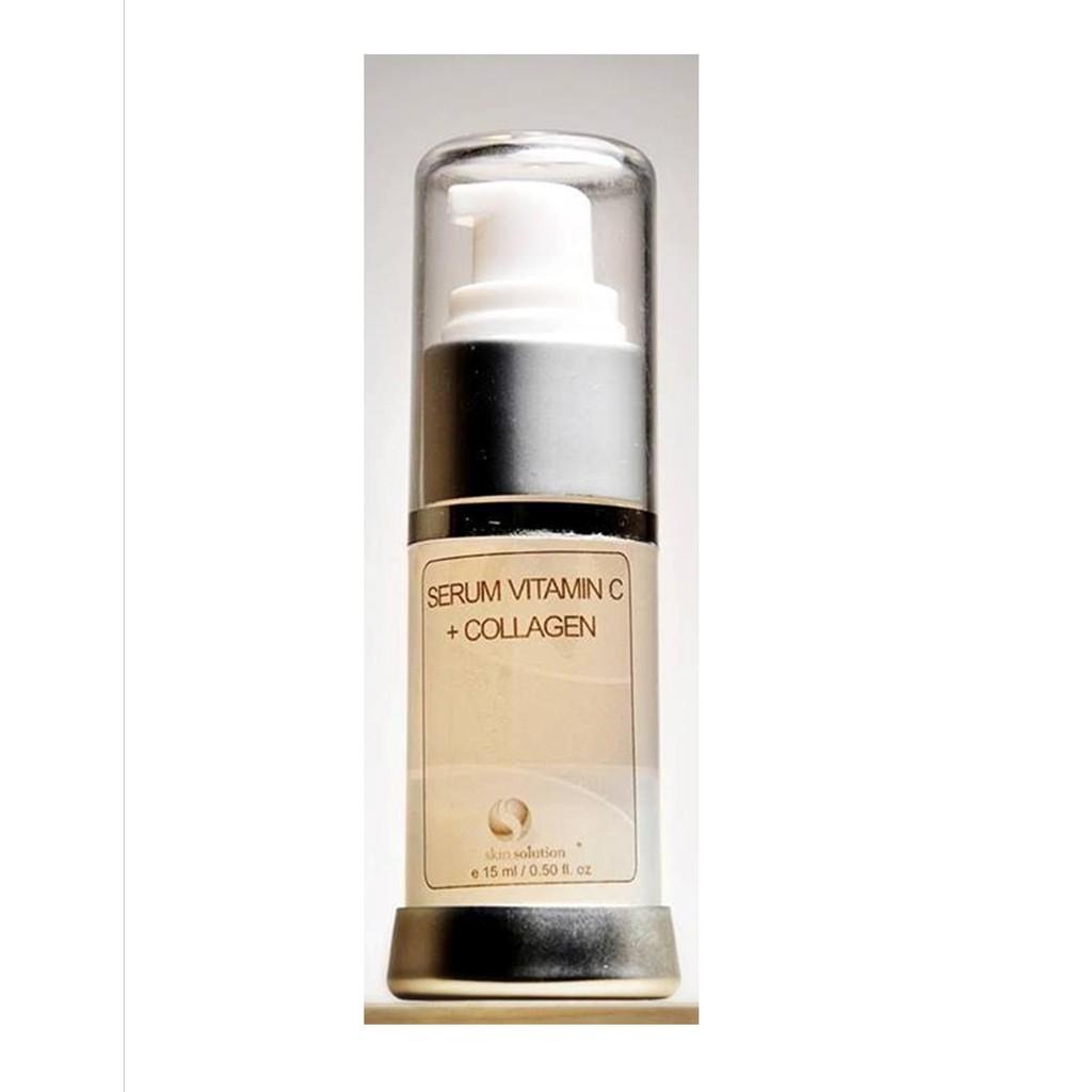 Skin Solution Serum Vitamin C Collagen 15ml Shopee Indonesia Hanasui