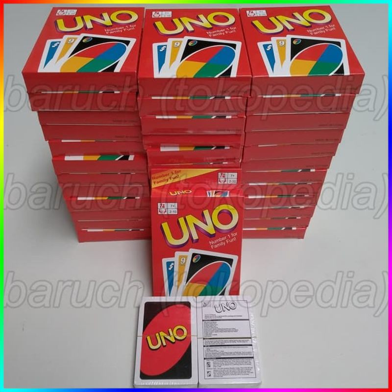 Kartu Uno Card Polos Biasa For Family Fun Keluarga Shopee Indonesia