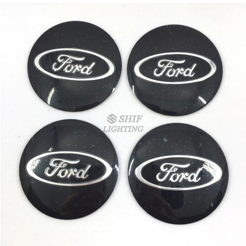 4 stickers autocollants Logos Emblème BMW WHITE 56mm