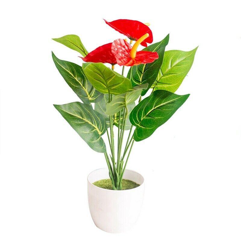 Benhouse 12pcs Tanaman Palem Anthurium Imitasi Bahan Plastik Warna Merah Untuk Dekorasi Rumahtaman Shopee Indonesia