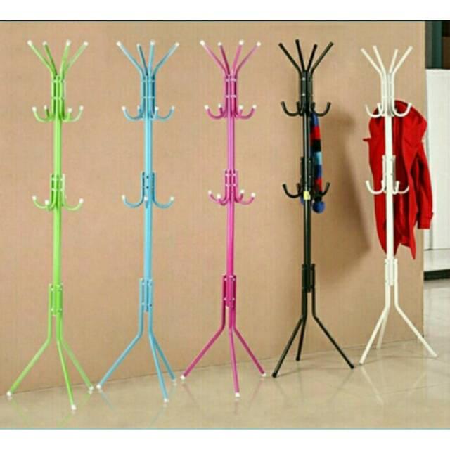 Hanger Berdiri Stand Hanger Gantungan Baju bisa Portable Multifungsi | Standing Hanger Multifunction | Shopee Indonesia