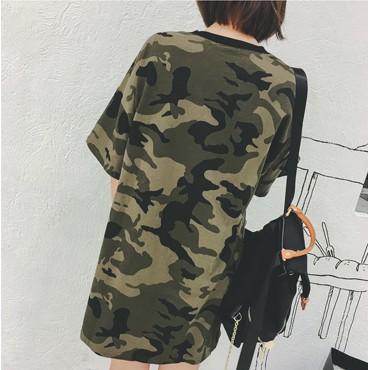Kaos Army Abri Dress Terusan Model K Pop Korea Keren Kece Artis Shopee Indonesia