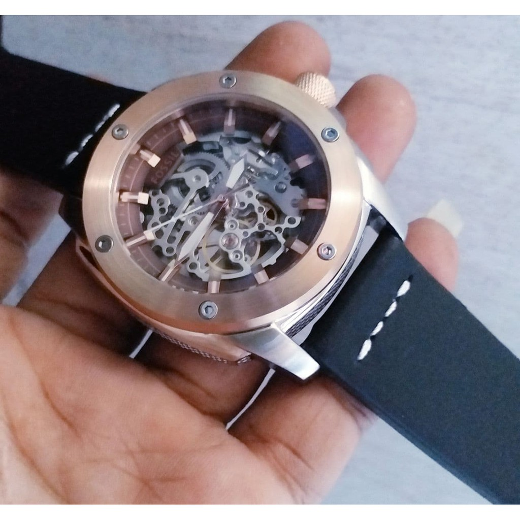 Jam Tangan Pria Fossil Fs 5000 Original Shopee Indonesia Jr1494 Stainless Steel Bracelet Hitam