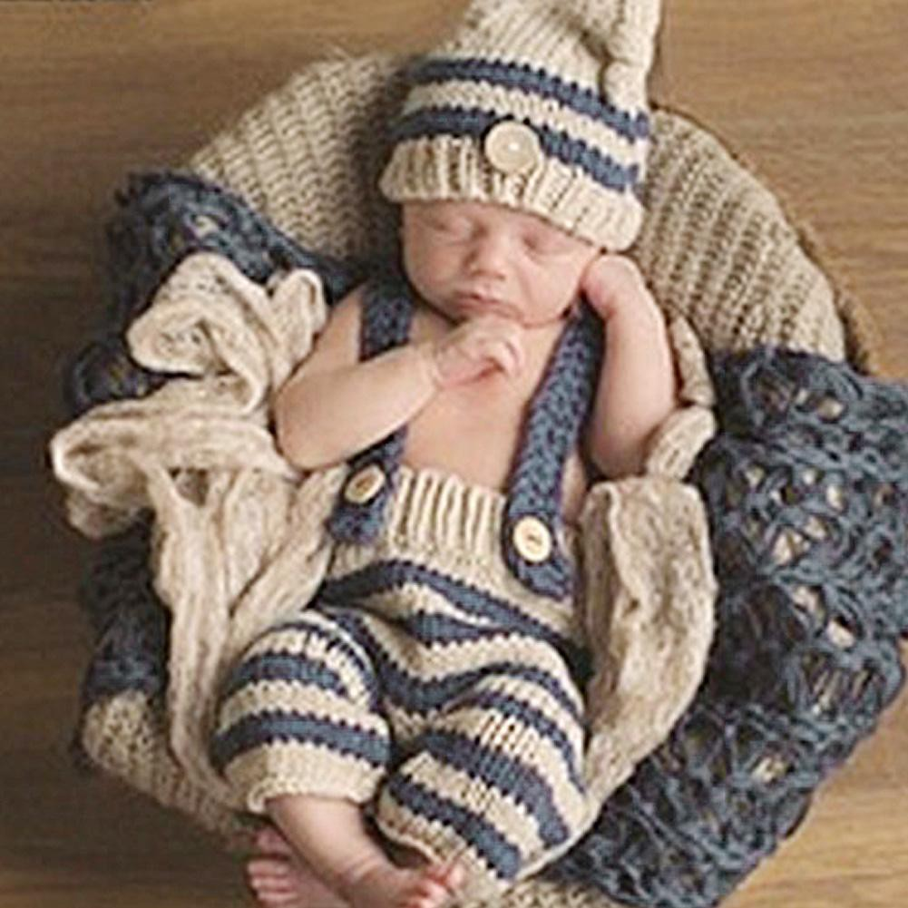 Baby Photography Props Kids Hat Romper Crochet Knit Costume | Shopee Indonesia