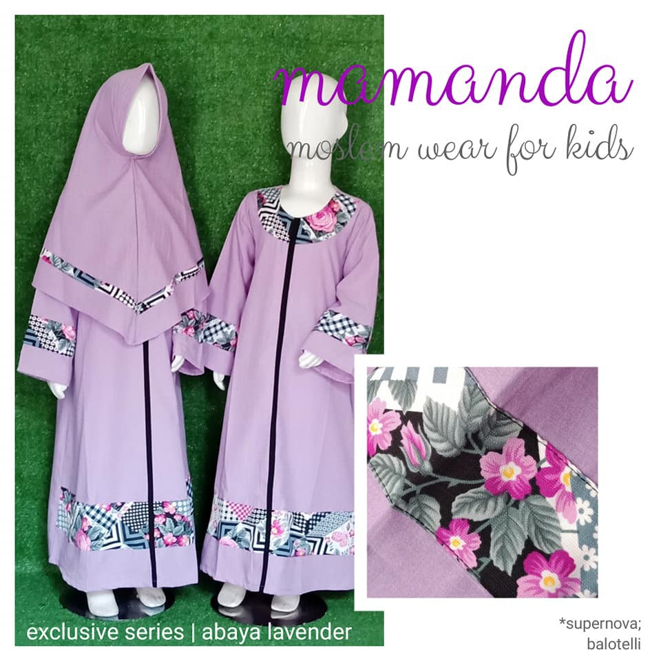 Gamis Anak Abaya Lavender Exclusive Series by Mamanda
