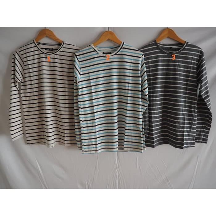 ... Pheno 11 Macam Baju / Kaos Salur Lengan Panjang / Stripped / Belang / Wanita Kekinian ...