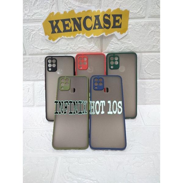 Case Infinix Hot 10S Matte Colour - Hard Case Infinix Hot 10S Case Matte Colour