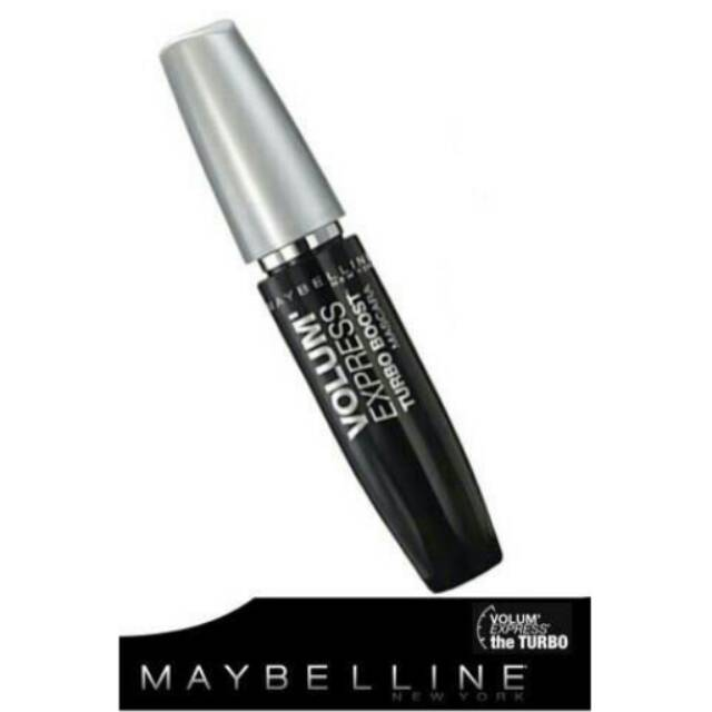 72ae387bcfe Maybelline Volum Express Turbo Boost Mascara VERY BLACK | Shopee Indonesia