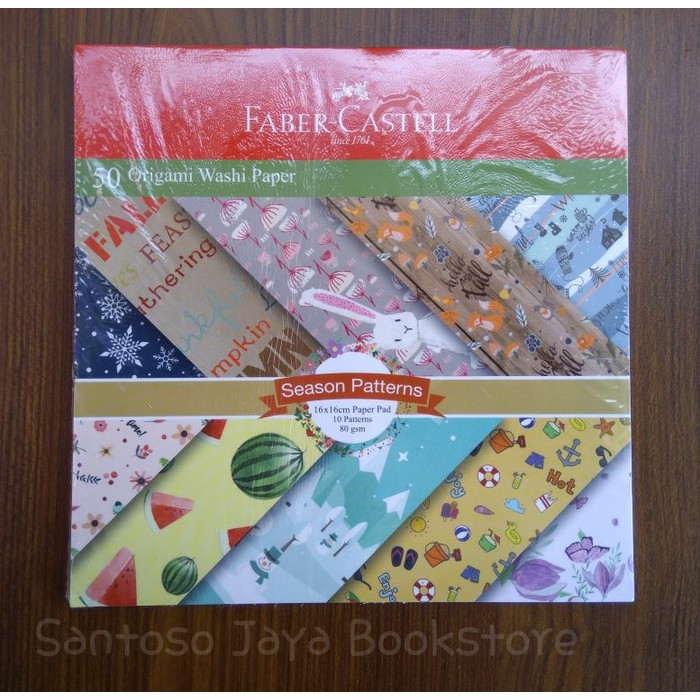 Kertas Lipat - 50 Origami Washi Paper Season Patterns Faber Castell | Shopee Indonesia