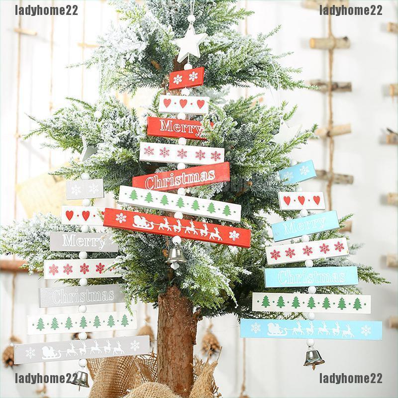 Ornamen Lonceng Pohon Natal Bahan Kayu Untuk Dekorasi Rumah