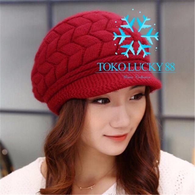 Readystock Aksesoris Fashion Wanita  Topi Kupluk Bahan Wol bdfaeba5d6