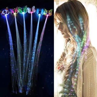Jepit Rambut Extension Model Kepang Dengan Lampu Led Bahan Sintetis Untuk Wanita thumbnail