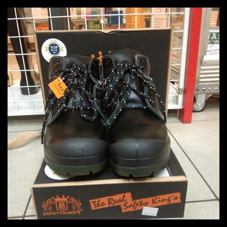 Langsung Order Ya Kak!!! Sepatu Safety Merk Kings Kws 803 X Original Kulit Asli. - 38