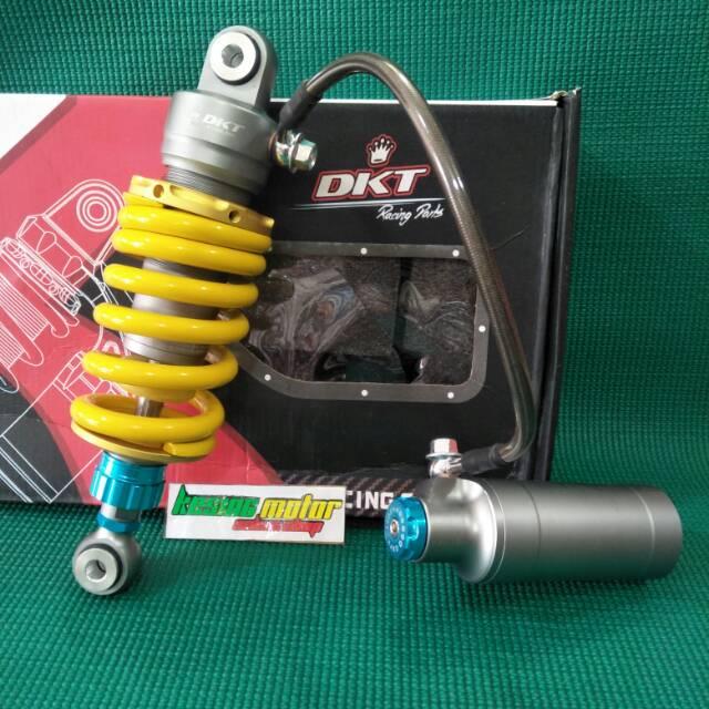 Shock DKT monoshock tabung pisah universal sonic 125,cbr old, dash,ninja RR per kuning tabung grey