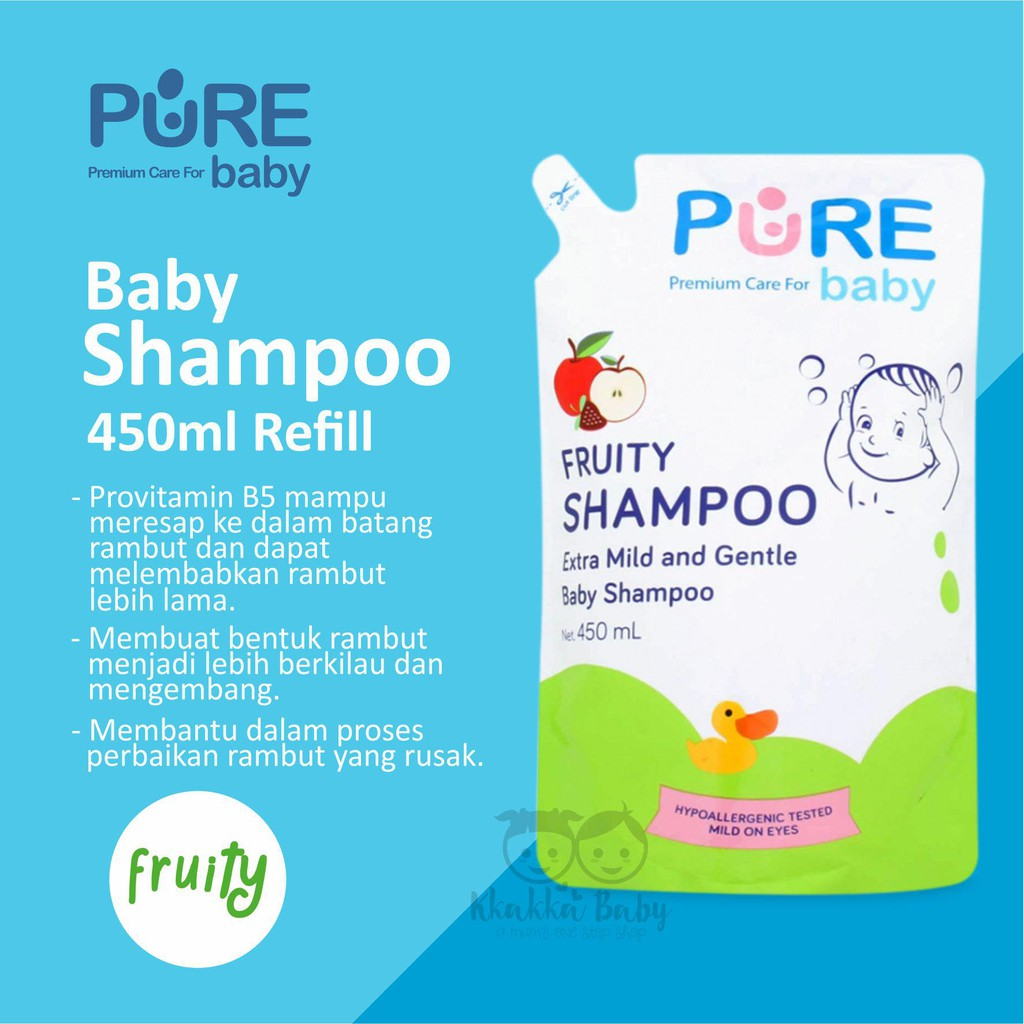 Shampoo Purebaby Refill 450ml Buy 1 Get Free Fruity Pure Baby Refiil Shopee Indonesia