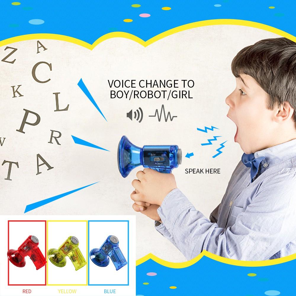 Multi voice changer amplifier 10 different voices fun toy speaker blue