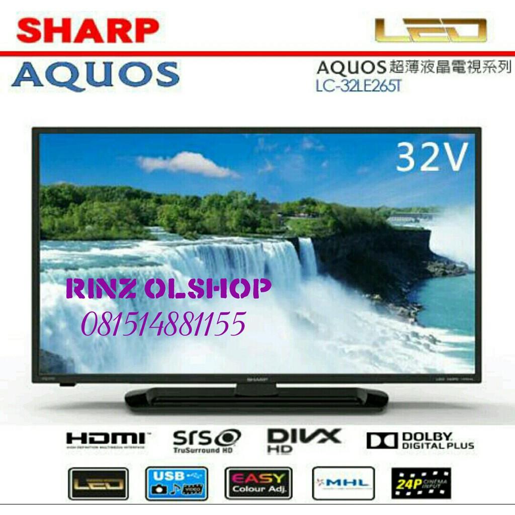 Led Tv Sharp Aquos Lc24le175i Usb Movie Baru Bergaransi Resmi 24 Shopee Indonesia