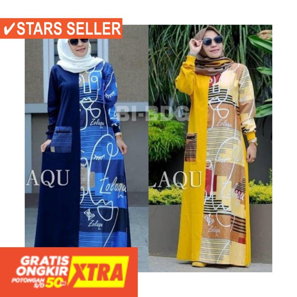 Baju Muslim Terkini Terbaru Wanita Murah Cewe Asli Gamis Zolaqu Terlaris Shopee Indonesia