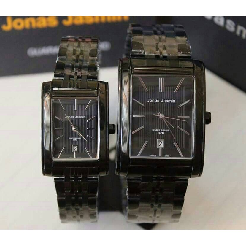 Jam Tangan Couple Jonas Jasmin JJ-2066 Black Rose Gold Original Water  Resist  604d3b33d7