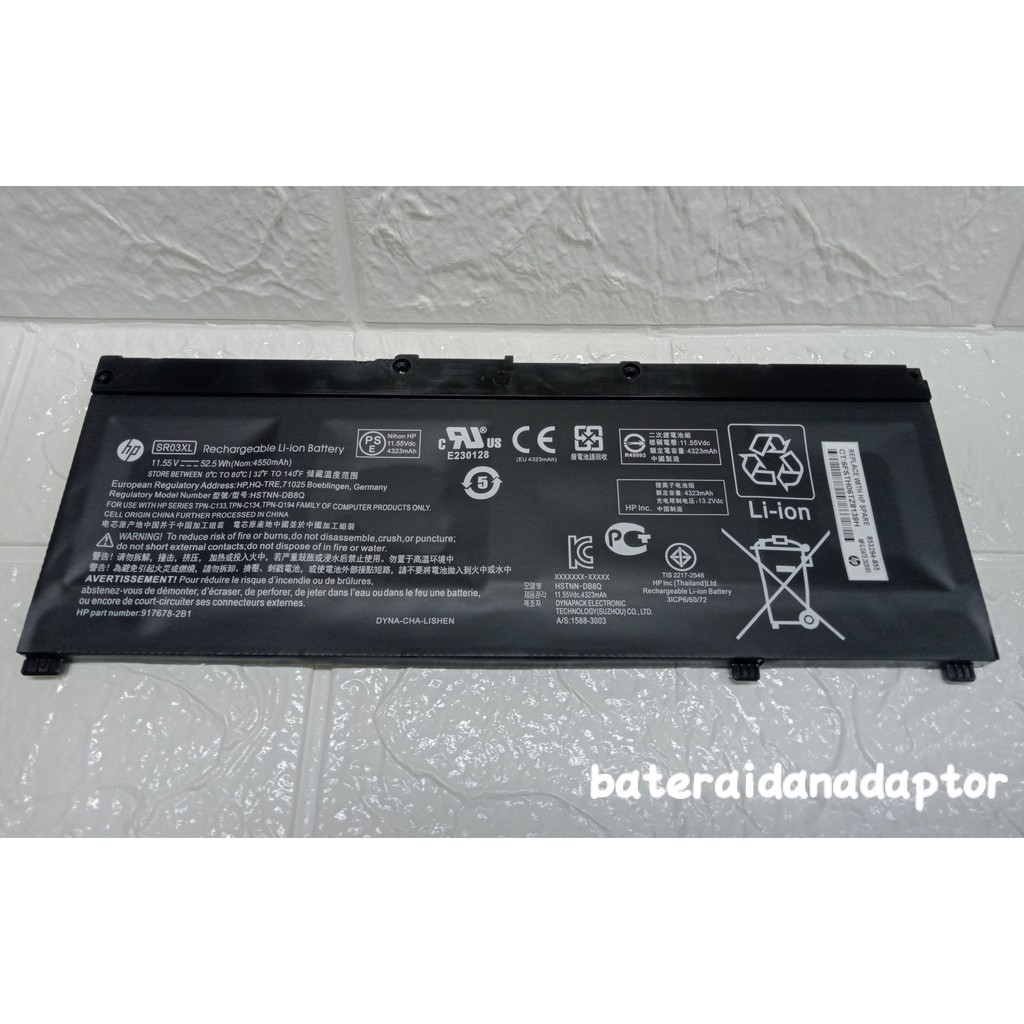 Baterai Hp SR03XL HSTNN Original | Shopee Indonesia