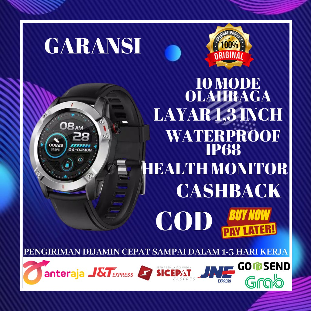 Jam Aolon Smartwatch G20 Pria Wanita Touch Screen Water Resist IP68 Bluetooth Smart Ios & Android