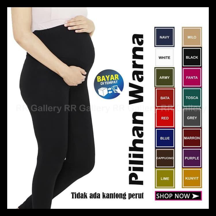 Paling Murah Celana Legging Jumbo Panjang Wanita Ibu Hamil Bahan Leging Adem Nyaman Terbaik Shopee Indonesia