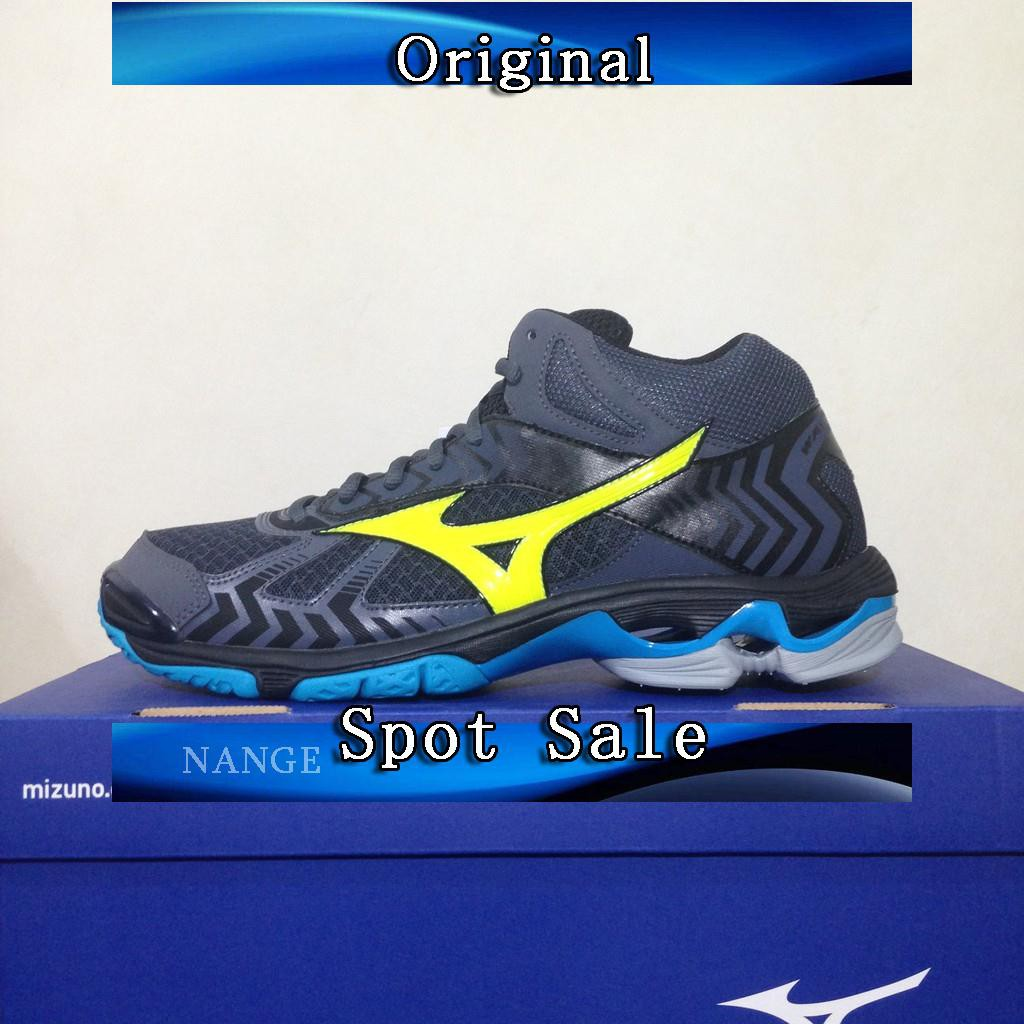 Sepatu Volley Mizuno Wave Lightning Z4 Mid Blue V1GA180551 Original BNIB  de3782ac48