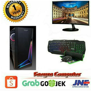PC Gaming AMD Ryzen 3 3200G HDD 1TB lengkap LED Samsung 24 Curved Keyboard Mouse GAMING
