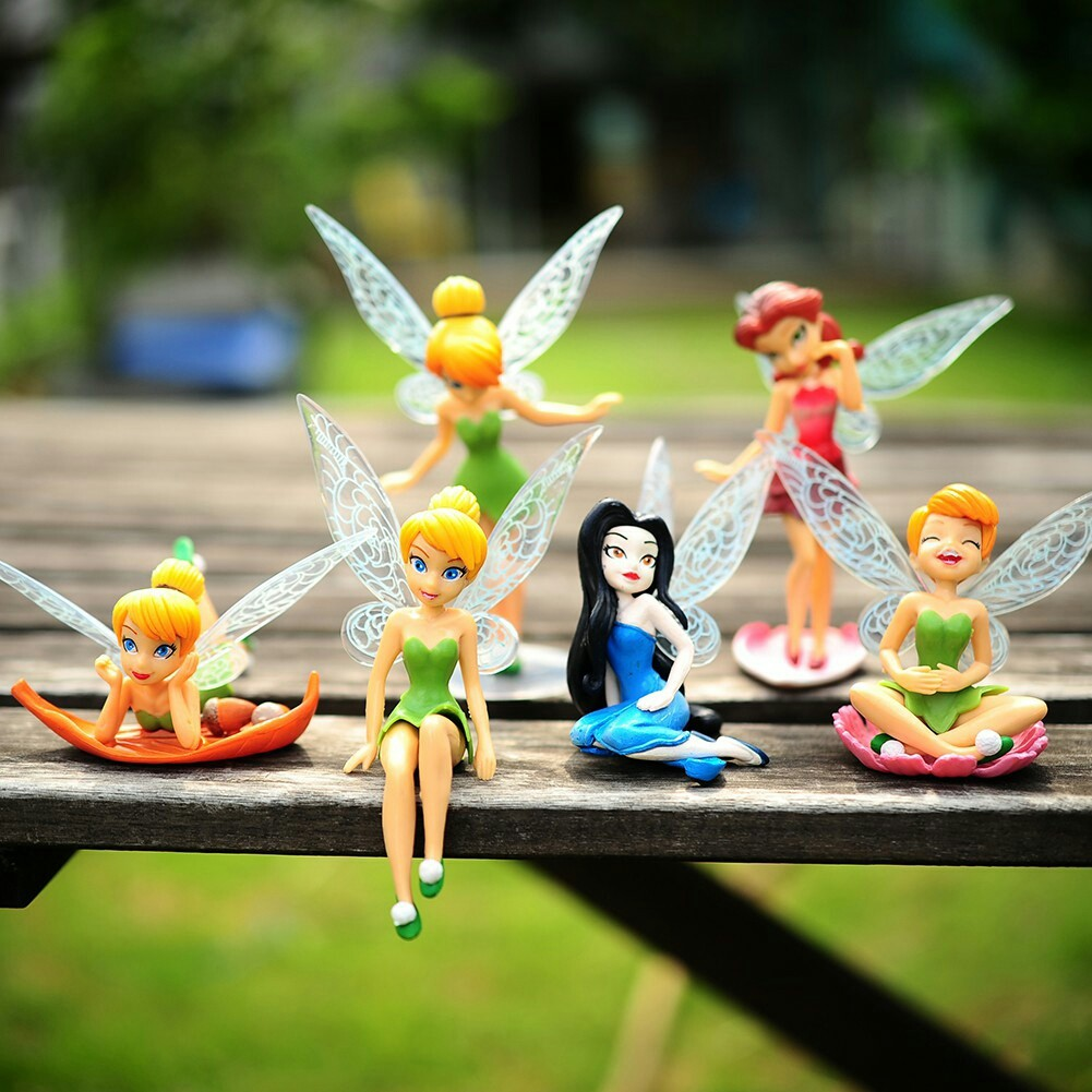 Figure Tinkerbell 1 Set Isi 6 Pcs Atau Hiasan Kue Topper Cake Disney Tsum Patung Dan Boneka Shopee Indonesia