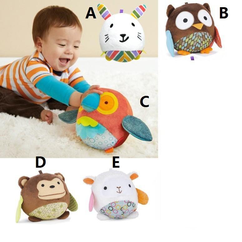 boneka rattle/bola rattle/mainan anak/bola rettle animal / Bola skiphop / Bonek