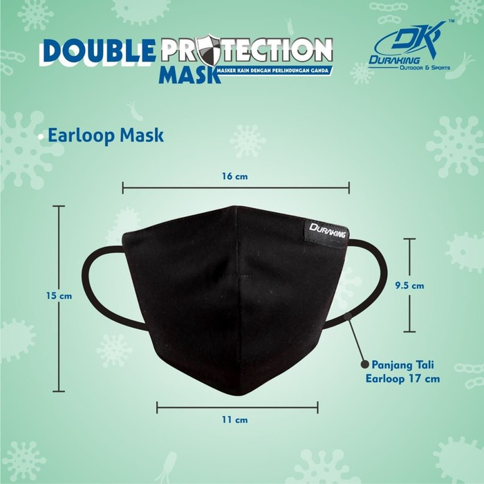 Masker Kain Anti Virus DK DOUBLE PROTECTION EARLOOP MASK COLOUR #3