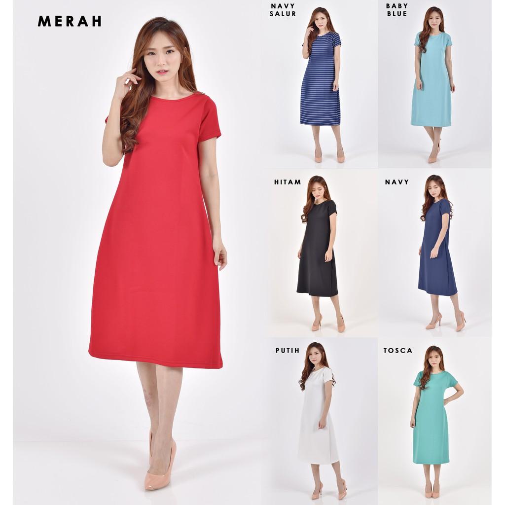 mode wanita wanita V-neck longgar tidak teratur Hem sifon pendek gaun musim panas pantai | Shopee Indonesia