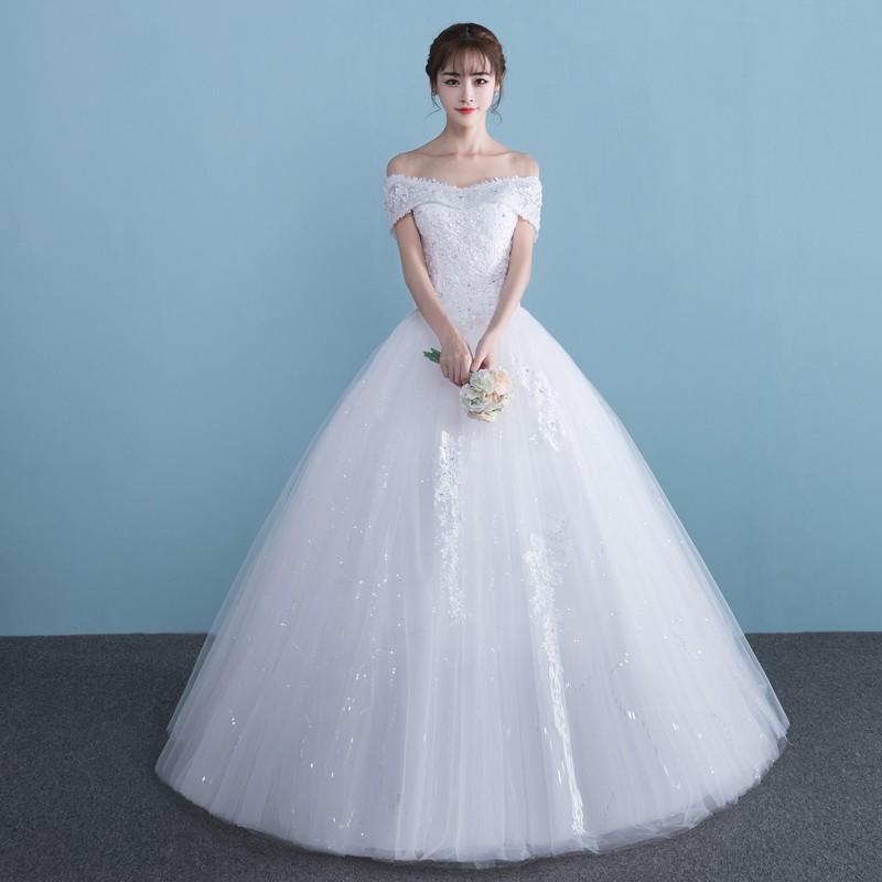 1609008 Putih Gaun Pengantin Baju Pengantin Wedding Gown Wedding Dress | Shopee Indonesia