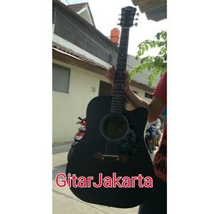 Gitar Akustik Elektrik Hitam Merk Taylor Murah Jakarta Aw 23