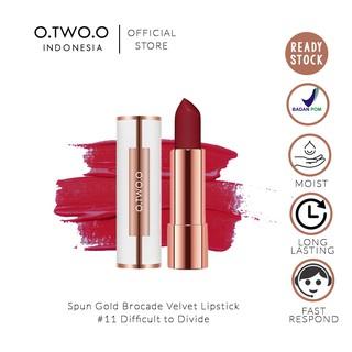O.TWO.O Spun Gold Brocade Velvet Lipstick 4gr No. 11 Difficult to Divide (Lipstik Matte Yang Lembut) thumbnail