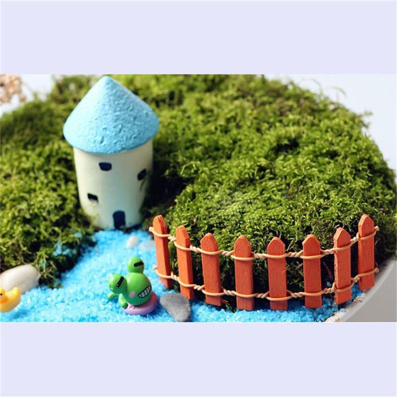 Dekorasi 10 Buah Dekorasi Pagar Peri Bahan Kayu Skala Mikro Untuk Menghias Taman Dalam Rumah