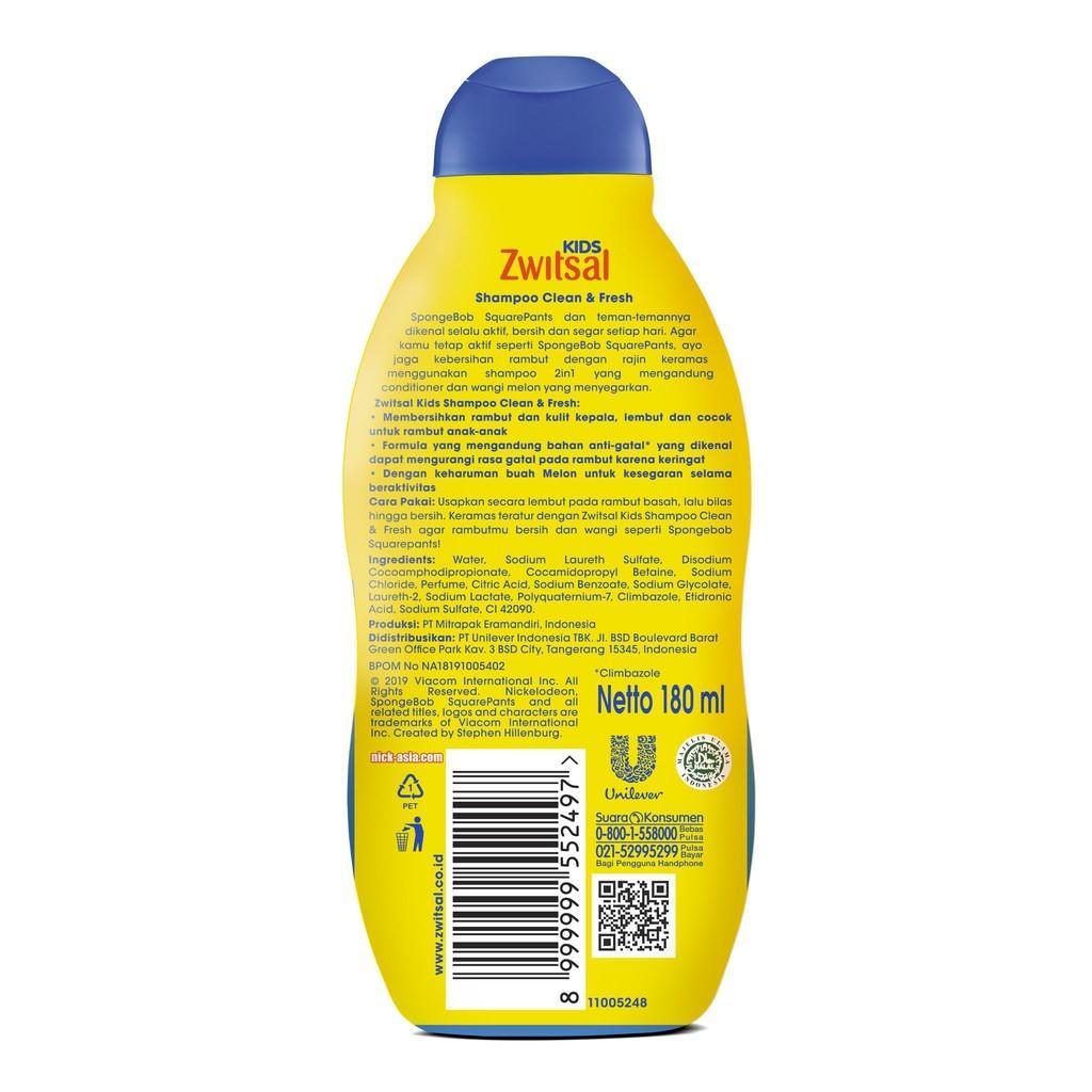 ZWITSAL KIDS SHAMPOO BLUE CLEAN & FRESH 180ml TWINPACK-1